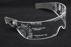 The original Illuminated Cyberpunk Cyber goth visor Iron Man J. advanced Clear **choose your LED colour** New Technology Gadgets, High Tech Gadgets, Futuristic Technology, Cool Technology, Wearable Technology, Cyberpunk, Iron Man, Disney Marvel, Future Tech