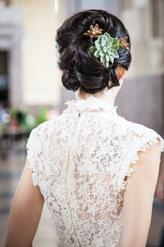 succulent wedding hair flowers - Google Search