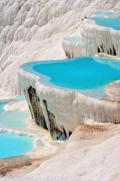 Natural pools in pamukkale, turkey Pamukkale, Dream Vacations, Vacation Spots, Places Around The World, Around The Worlds, Wonderful Places, Beautiful Places, Fotografia Online, Places To Travel