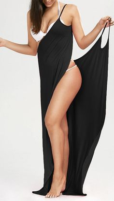 Beach Maxi Wrap Slip Cover Up Dress