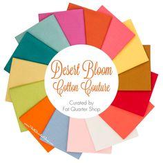 Desert Bloom Cotton Couture Solids Fat Quarter Bundle Curated by Fat Quarter Shop - Michael Miller Fabrics    Fat Quarter Shop