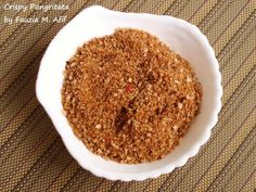 Pangritata is also known as 'poor man's parmesan'. It is a quick, easy and cheap way of turning stale leftover bread into fragrant crispy flavourful crumbs that can be sprinkled over simple pasta dishes or roasted veggies.
