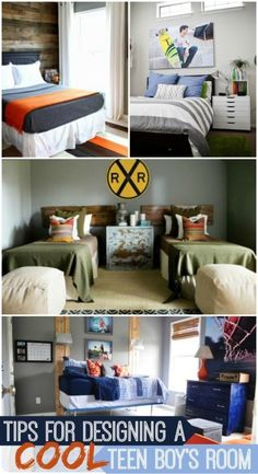 Great tips for designing a cool room for a teen boy.