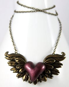 Give your Heart Wings Necklace by *NeverlandJewelry