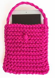 Neon Pink iPad Case iPad Sleeve iPad Protector by knitknotsupplyco