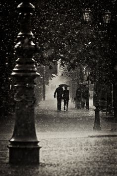 Nothing like walking in the rain to remind you you're alive
