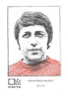 No. 24: Francisco Valdez, Chile World Cup, Chile, Portrait, Drawings, Soccer, Necklaces, World Cup Fixtures, Chili Powder, Men Portrait