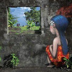 Street Art by Seth Globepainter - Graffiti 3d Street Art, Urban Street Art, Murals Street Art, Amazing Street Art, Street Artists, Amazing Art, Art Français, Mural Art, Graffiti Art