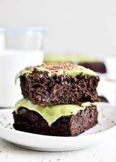 Avocado Brownies with Avocado Frosting | howsweeteats.com