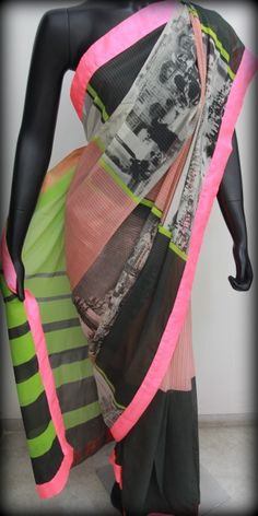 awesome digital print saree