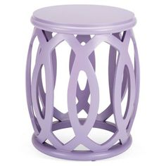 Check out this item at One Kings Lane! Hallie Stool, Lavender