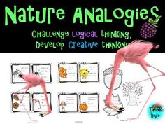 These Nature Analogies are perfect to challenge your students and develop skills in logical thinking, problem-solving, comparing and contrasting and creati. Teaching Materials, Teaching Resources, Cell Analogy, Aqa English Language, Primary Classroom, Writing Paper, Behavior Management, Creative Thinking, Task Cards