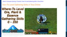 Beginner Gathering Guide - Leveling Tutorial 0 to 350 Skill Level.  Video guide created for newbies in mind.