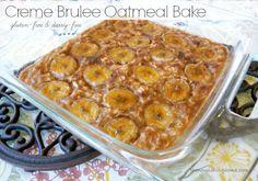 Banana Crème Brulee Oatmeal Bake (GF, DF) - Keeper of the Home