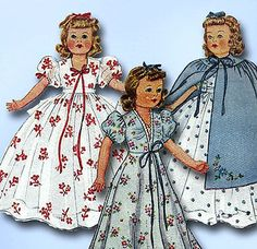 1940s-Vintage-McCall-Sewing-Pattern-918-Rare-WWII-22-Inch-Movie-Doll-Clothes