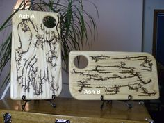 Ash Serving / Cutting Boards by FrillsElectricWood on Etsy Lichtenberg Figures, General Finishes, Lightning Strikes, Serving Board, Safe Food, Wood Projects, It Is Finished, Display, Woodburning