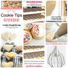 Basics of icing cookies, these instructions will help you ice pretty cookies without the use of a piping bag, Cut Out Cookie Recipe, Sugar Cookie Recipe Easy, Cookie Dough Recipes, Easy Sugar Cookies, Iced Cookies, Cut Out Cookies, Drop Cookies, Baking Cookies, Lemon Cookies