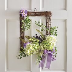 32 Inspiring Spring Door Wreaths For Your Home Decoration - When most of us think of front door wreaths we think circle, evergreen and Christmas. Wreaths come in all types of materials and shapes. Spring Door Wreaths, Summer Wreath, Holiday Wreaths, Winter Wreaths, Wreath Fall, Diy Wreath, Wreath Ideas, Burlap Wreaths, Mesh Wreaths