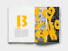 The sprayed letter 'B'; the paint strokes over image all connect it to the art of graffiti. The bright contrast on the yellow paint with the black and white images really draws your eye to it. Magazine Layout Design, Book Design Layout, Print Layout, Graphic Design Brochure, Graphic Design Posters, Photo Rock, Graffiti Books, Book Design Inspiration, Up Book