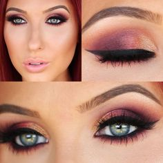 Ombre Sunset smokey eye, Jaclyn Hill on YouTube  This is my absolute favorite…