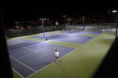 Nighttime tennis at DiMaggio Playground in North Beach. Photo: Scott Strazzante, The Chronicle