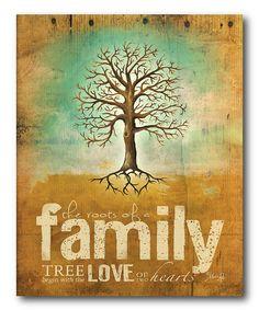 'Family' Canvas Wall Art