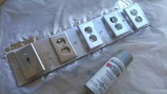 Gave my outlet covers a whole new look! They look like stainless steel! I used Rust-Oleum Bright Coat Metallic Finish spray paint. You could use ANY color!