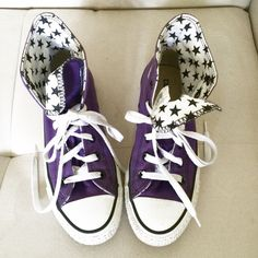 1fdd31b2860fe2 Converse Chuck Taylors Great condition! Worn once. Custom made purple  color. Super comfy