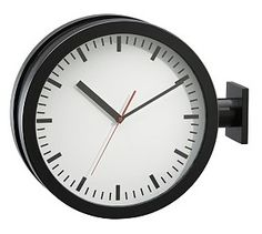 station double sided wall clock