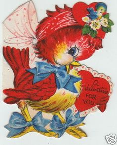 Valentines Greeting Card 1940 - 50'S