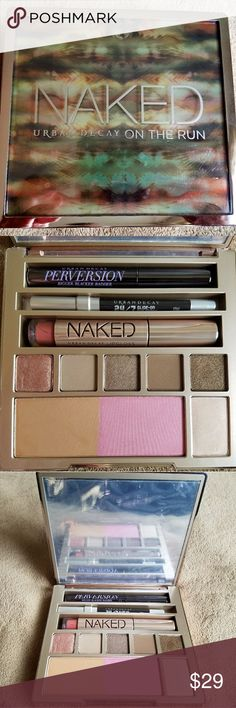 💄Urban Decay Naked on the Run Pallette 💄Naked on the Run Pallette from Urban Decay. New, without box. All pans in new condition, protective cover still attached to mirror and the front cover is great but the back label a little battered.  I wanted this pallette for a long time, but after I got it, I just don't reach for it. I had planned to travel with it, but contrary to its name, it's a rather bulky pallette. It needs a home where it will be used and loved!  *Price firm, unless bundled…