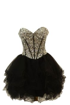 Azaria Style 5249 Black/White Homecoming Dress