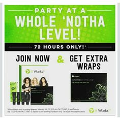 You get an extra box of wraps in your kit when you join in the next 24 hours 2 boxs of wraps plus defining gel for $99 message me today so we can get you started 239-287-4463 #itworks