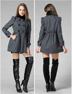 Outfit Ideas, Grey, Coat, Sweaters, Outfits, Dresses, Fashion, Blue Prints, Gray