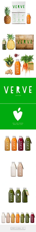 VERVE #Juice #packaging designed by Bob Studio - http://www.packagingoftheworld.com/2015/03/verve-juices.html