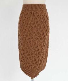 DHOLIC(ディーホリック)の「ケーブルニットラップミディスカート(スカート)」です。このアイテム着用のコーディネートをチェックすることもできます。