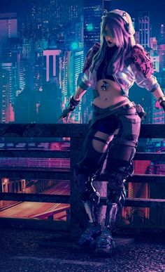 A genre of science fiction and a lawless subculture in an oppressive society dominated by computer technology and big corporations. Cyberpunk City, Cyberpunk 2077, Ville Cyberpunk, Cyberpunk Kunst, Cyberpunk Aesthetic, Cyberpunk Games, Manga Sexy, Akali League Of Legends, Futuristic Art