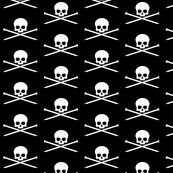 Skull and knitting needles