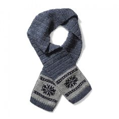 Cowichan Scarf - Snowflake - This unique wool cap is handmade by the members of the Cowichan tribe in British Columbia.