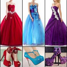 Red, Blue and Purple Girls Maxi Dresses, Party Wear Dresses, Strapless Dress Formal, Formal Dresses, Sleeveless Blouse, Designer Dresses, Gowns, My Style, How To Wear