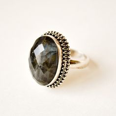 Smoky quartz & sterling silver ring by Rock & Roll Vintage, as seen on Fab.