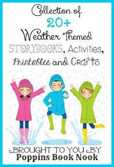 Weather Themed Storybooks, Activities, and Printables