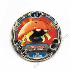 Pokemon Super Batomen Disc Pog  Kabuto approx. 2 inches tall Tomy Imported from Japan
