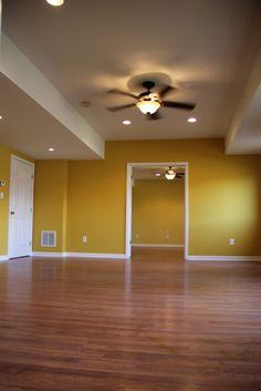 Basement remodel in Dacula, GA. Pergo laminate flooring throughout.