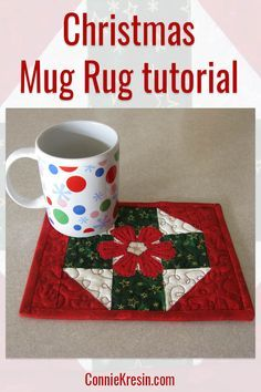 Christmas Mug Rug Tutorial That Makes A Great Gift For Quilt Mugrug Lique