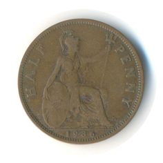 Vintage Coin George V Half Penny 1936 Code: by JMCVintagecards Postcards For Sale, Coins For Sale, Pennies, Coin Collecting, Seals, Cave, Old Things, Coding, Money