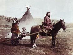 Strong Left Hand and family. Northern Cheyenne. 1906