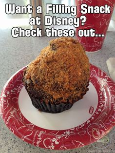 """These """"snacks"""" at Disney World could double as a meal!  Find out what huge treats you can get that will keep you full."""