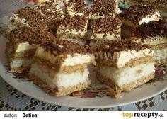 Rumunské kokosové řezy recept - TopRecepty.cz Czech Recipes, Ethnic Recipes, Romanian Food, Dessert Recipes, Desserts, Nutella, Food Porn, Healthy Eating, Yummy Food