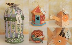 The bird cage would make a great wedding favour. I wonder if you could put sweets inside?